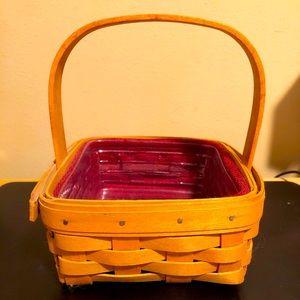 Longaberger Tarragon Booking Basket Paprika Liner